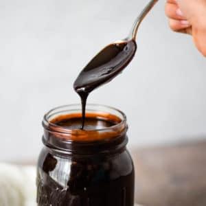 hot fudge in jar